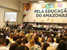 GOVERNADOR ASSINA PACTO PELA EDUCAÇÃO DO AMAZONAS - FOTO ÉRICO XAVIER 07