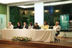 Diversas autoridades da ciência estavam presentes no evento de lançamento do Programa Go Amazon (Foto: Agência FAPEAM)