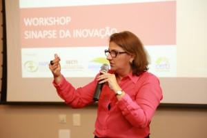 Diretora presidenta, Maria Olívia Simão, durante a abertura do evento. (Foto: Érico Xavier)