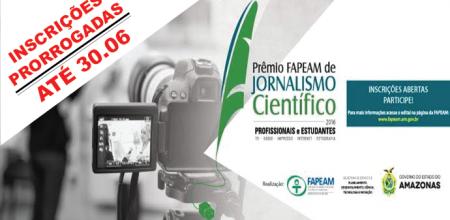 Fapeam prorroga inscrições para o Prêmio de Jornalismo Científico