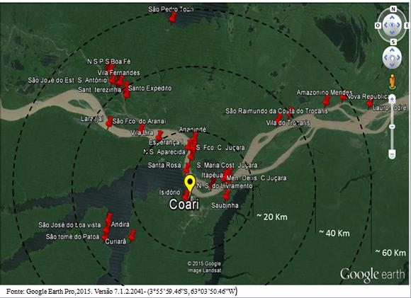 Mapa Coari